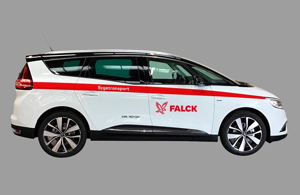 Bildekorationer på Falcks biler
