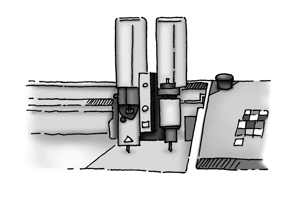 Produktion Instore Foliedekoration pyloner
