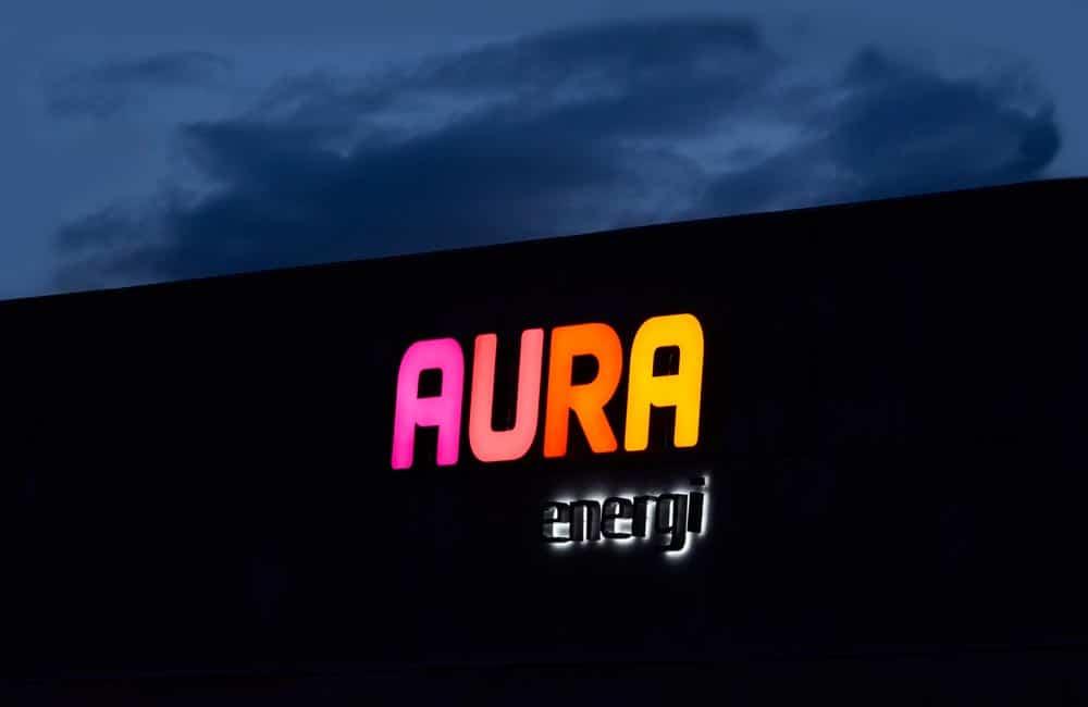 Aura - facadeskiltning