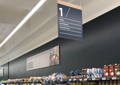 Instore skilt - Nonbye A/S