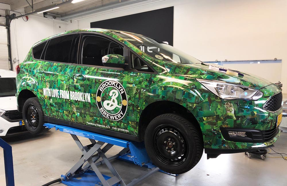 Brooklyn Brewery Bilfolie på Ford, set fra siden