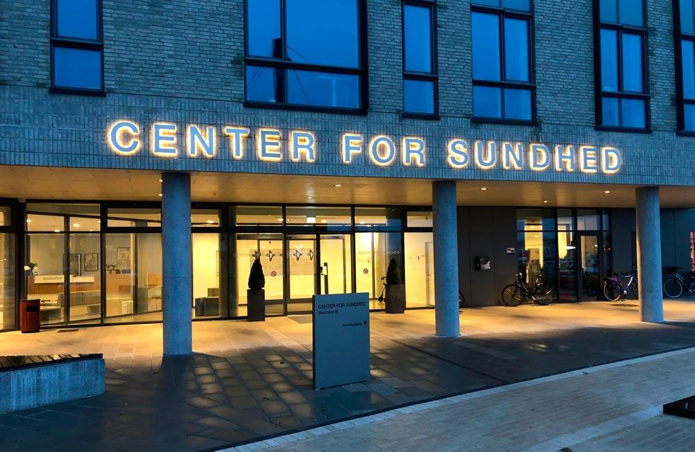 Center For Sundhed facadeskilt