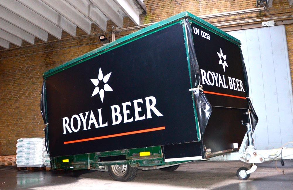 Foliering af Royal Unibrew udskænkningsvogne