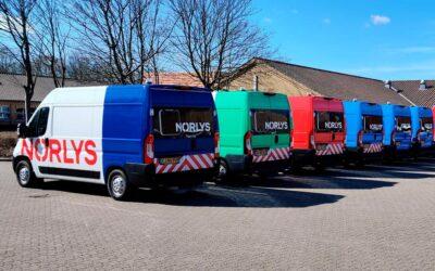 Projektledelse i top gav sikkert logoskifte på 208 biler for Norlys