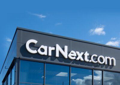CarNext facadeskilt - Nonbye A/S