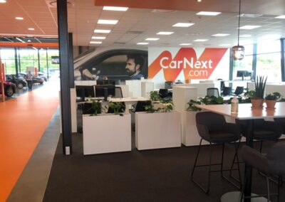 Selvklæbende folie til CarNext butikker