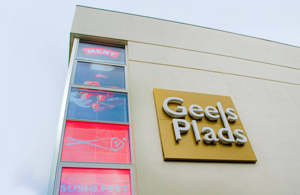 Geels Plads logo facadeskilt