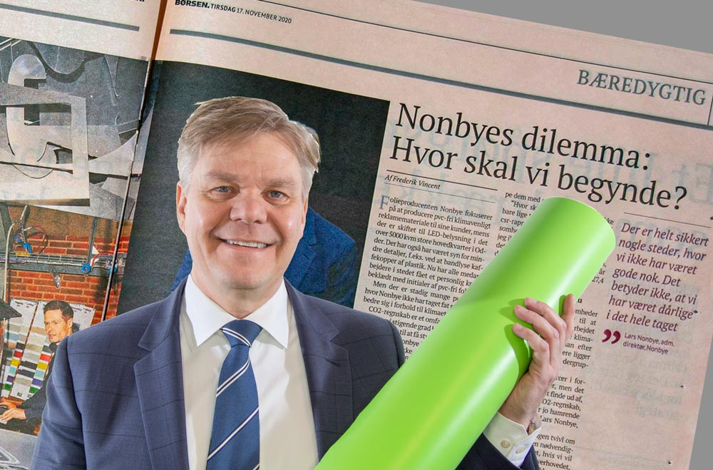 Bæredygtighed i form af PVC fri folie i Børsen - Nonbye A/S