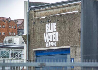 Blue Water Shipping facadeskilte - Nonbye A/S