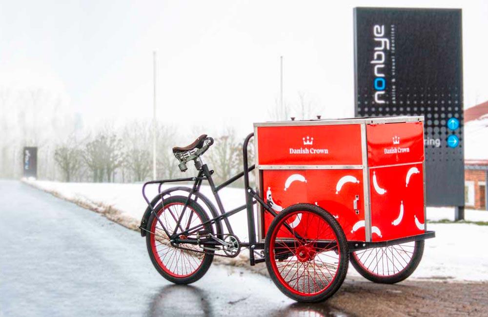 Pølse-cykel på visit