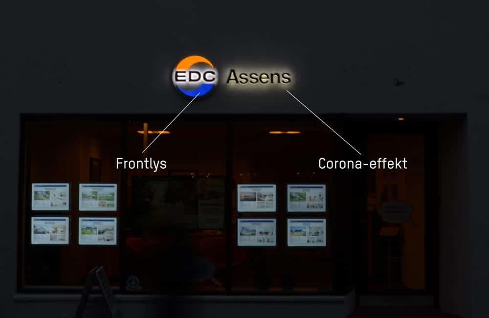 EDC facadeskilt med forklaring